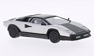 Lamborghini Countach evoluzione silver / matt black 1987 Model Car Ready-made WhiteBox 1:43 by LAMBORGHINI [parallel import goods]