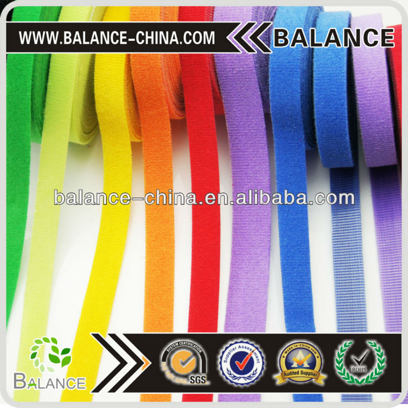 Colored reusable Hook andLoop cable ties