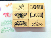 New design custom rubber stamp set wood rubber stamp for kids