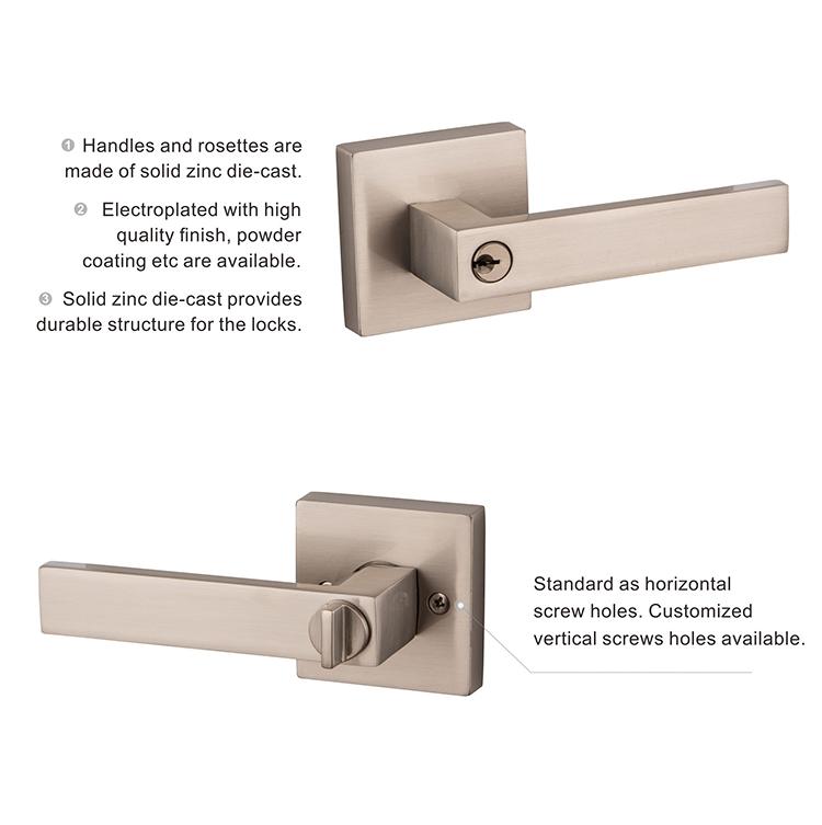 ... American Exterior Keyed Lever Lock Heavy Duty Tubular Lever Door Lock  ...