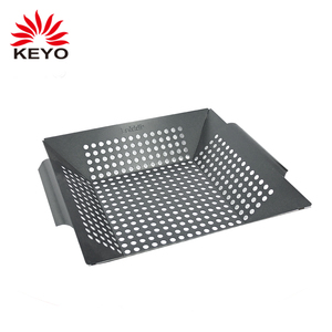 BSK9 promotional bbq tool barbecue Accessories Non Stick BBQ Skillet Easily Clean Vegetable BBQ Barbeque Basket