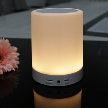 Best Selling Items Wireless Lamp BT Speaker with LED Color Changing Mood Light
