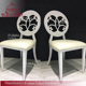 CHINA factory sales white leather hotel room desk chair