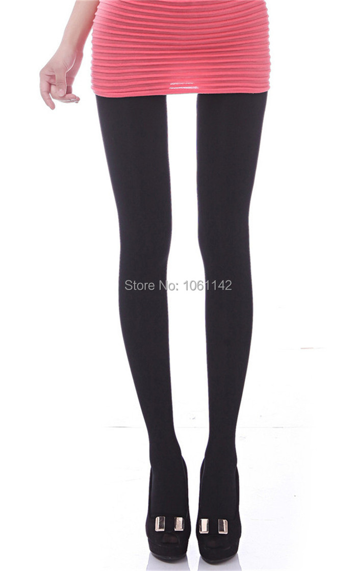 7a97ce69b Get Quotations · 2Psc Lot Thick Tights Female Seamless Leg Shape Pantyhose  Stovepipe Tights Autumn Bottoming Tights Wholesale