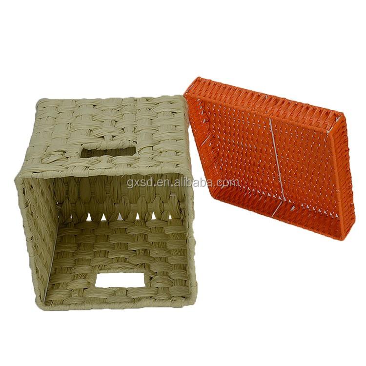 sd home decorative storage baskets eco friendly rattan plastic storage basket with lids - Decorative Storage Baskets