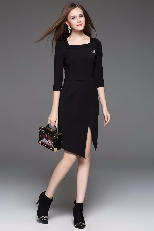 d4338b096e463 2017 kadın giyim batı moda Çalışma Örgün Ofis Elbise Kalem Parti Giyim  Vestidos Fiesta ...