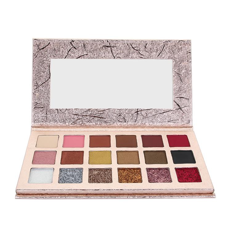 Özel etiket makyaj kozmetik hiçbir marka düşük adedi toptan 25 renk preslenmiş parlak renk göz farı paleti