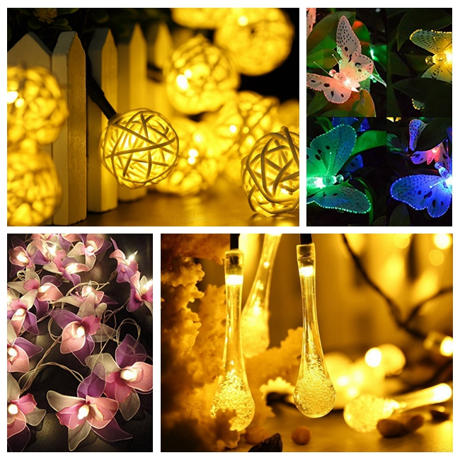 Wholesale prices attractive style solar led string light for outdoor with many colors