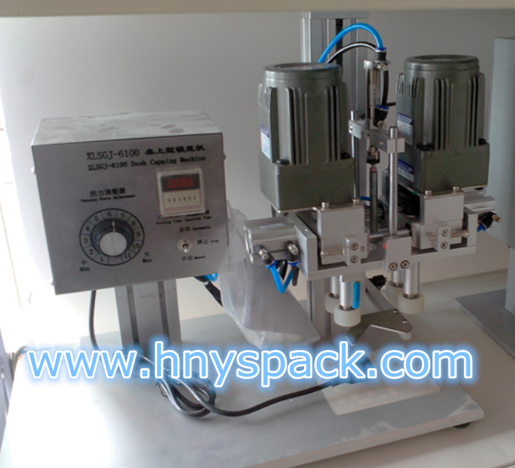 Vacuum capping machine for canned fish