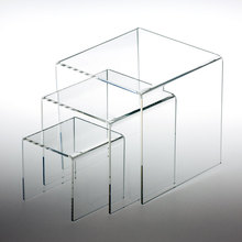 New Style Custom Clear unique design acrylic stepped cosmetic display riser