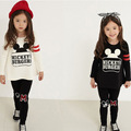 Spring and Autumn warm children s clothing fashion girls long sleeve T shirt pants leggings children