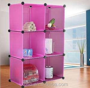 Stackable cube organizer DIY wire clear plastic kids bookcase