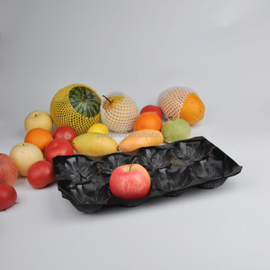 Testing Plastic PP Fruit Packing Tray Tomato Vegetable Packaging Tray Food Grade PVC PP Fruit Tray price for sale