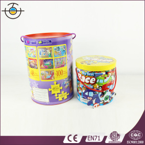Wholesaler 5 in 1 PVC Bucket Packed Jigsaw Puzzle for Kids