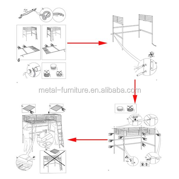 Oem Kid Bunk Bed Design Modern Bunk Steel Bed Metal Bunk Bed ...
