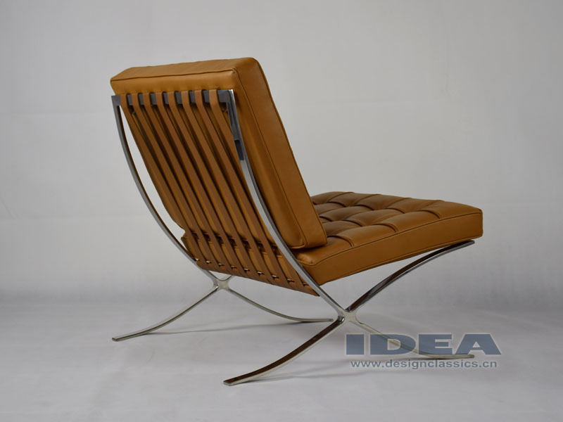 dc2001 replica mies van der rohe barcelona chair light brown