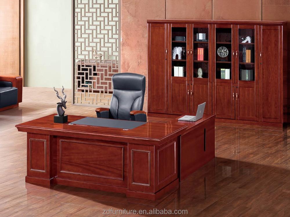 Bureau Bois Massif Pas Cher : Bois Massif Placage Pas Cher mobilier de Bureau Table de Bureau avec