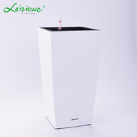Leizisure Cheap Large Size Plastic Decorative Ceramic Planters Plant Pots Big Glazed Outdoor Flower Pots for Tree