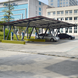 Polycarbonate Sheet Solar Aluminum Structure Carport For Home Use