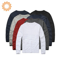 Wholesale basic no brand long t shirt mens