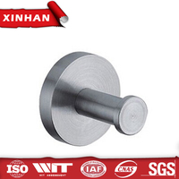 round coat stainless steel clothes single hook wall hanger