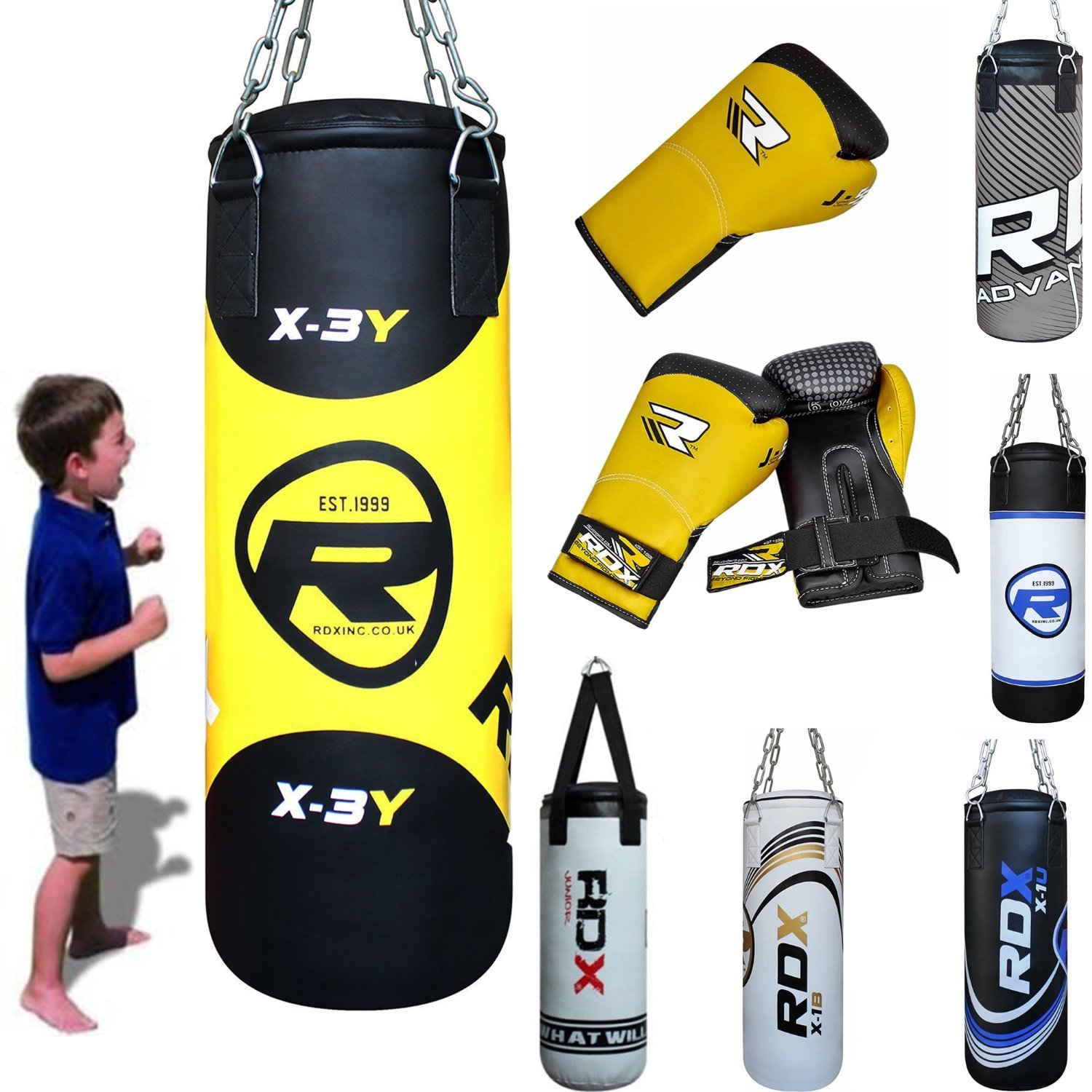 MAXSTRENGTH 4ft Filled Heavy Boxing Punch Bag Muay Thai MMA Training Punching
