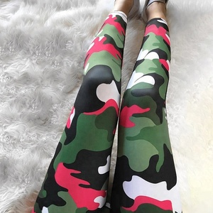 Custom Camouflage 88 polyester 12 spandex sublimation printed fitness gym yoga leggings