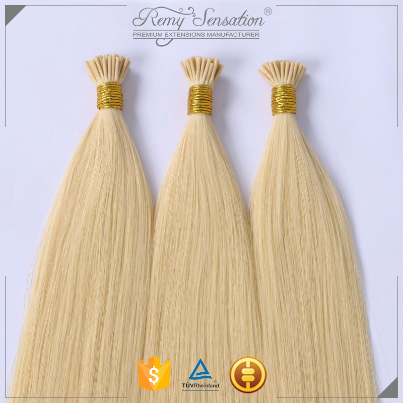 Cuticle Intact Russian Remy Double Drawn Pre Bonded I Tip Keratin Human Hair Extension 1 Gram