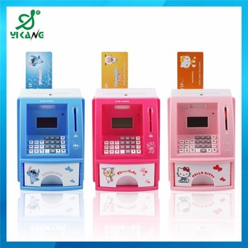 Atm Bank Toy For Children Novelty Coin Kids Piggy