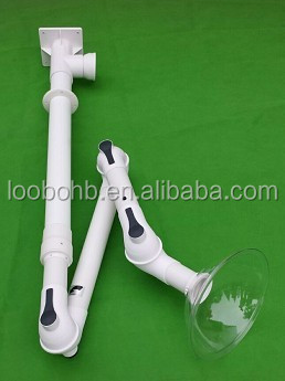 Ceiling mount PP material fume exhaust arm for lab laboratory / mini lab extraction arm / desk mounted suction arm