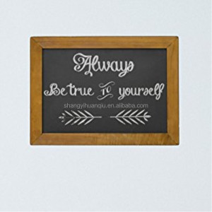 Distressed Wood Frame Finish Vintage Chalkboard