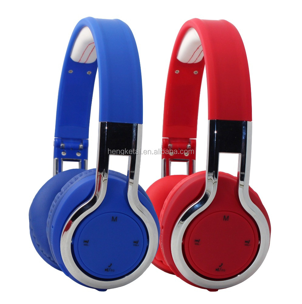 Stereo portable head phones bluetooth with FM function,foldable wireless bluetooth headsets headphones for smart phones
