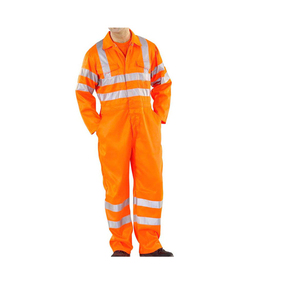 Spring and Autumn mens reflective strip work coveralls labor protection uniform