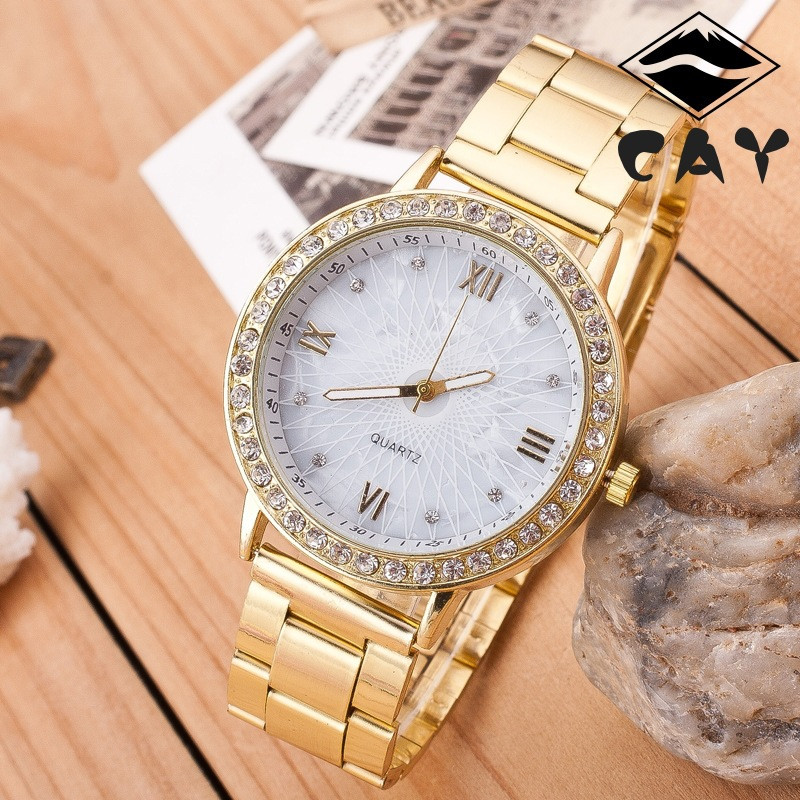 Quartz Stainless Steel Gold Watch Water Resistant, Customized Quartz Watches Wholesale