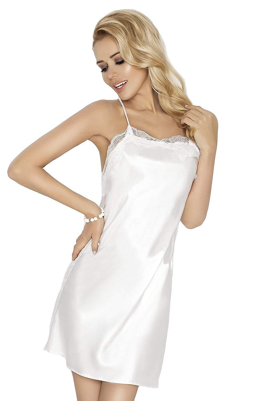 433a879368e Get Quotations · DKaren Women s Luxury Satin Chemise Nightdress Nightgown -  Gloria