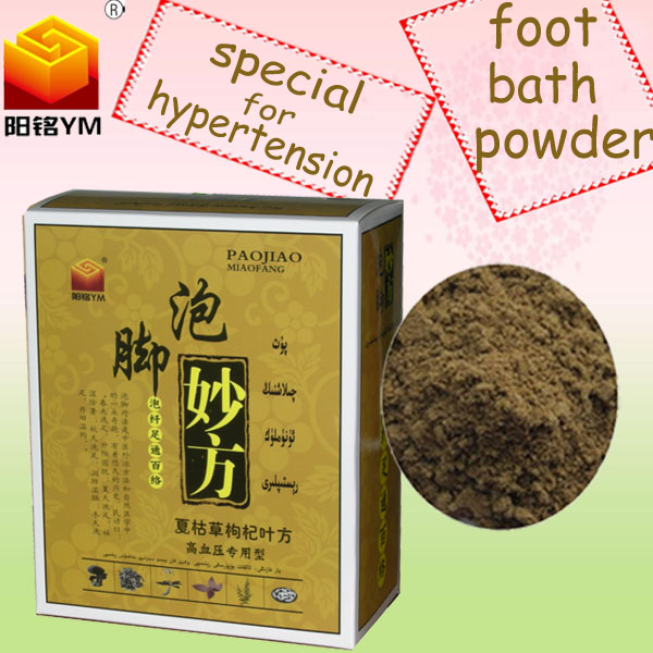 OEM Hypertension therapy herbal foot bath powder with good effect competitive price
