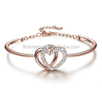 fashion two silver root gifts tone bangles jewelry bracelet in twotone hallmark heart accessories sterling bangle and