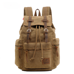Eight Color Custom Wholesale Retro Men Canvas Cotton Backpack