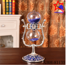 Home decoration rotate hourglass 15 minute metal sand timer
