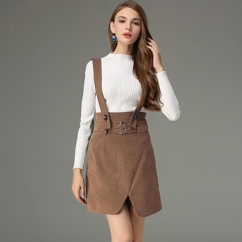 Winter Fashion Korean Street Style Plain Suede Split Mini Suspender Skirt Buy Suede Split Mini Suspender Rok Split Mini Suspender Rok Mini Suspender Rok Product On Alibaba Com