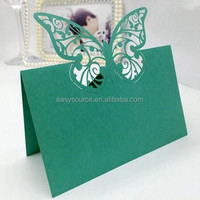 Unique Christian Wedding Decoration Laser Cut butterfly Small Table Tent Card place Seat Card ZK22
