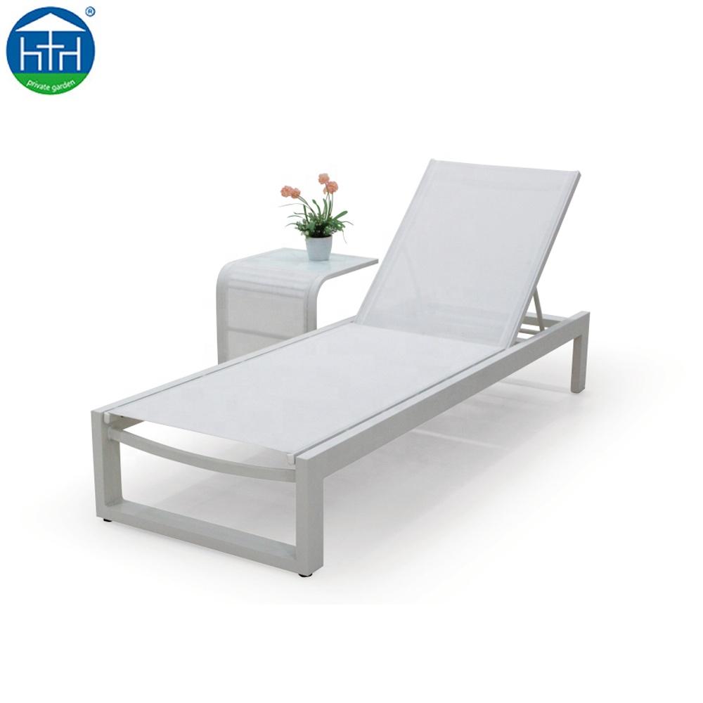 Lit De Plage Piscine De Jardin En Aluminium Chaise Longue Chaise Longue