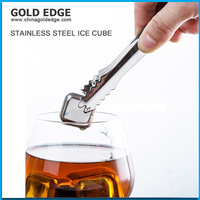 2015 Healthy Stainless steel Coffee beans ice cubes for Drinking Barware