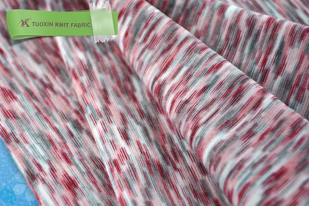 Space Dyed Knit Fabric,Spandex Polyester Lycra Sweater Fabric,Yarn ...