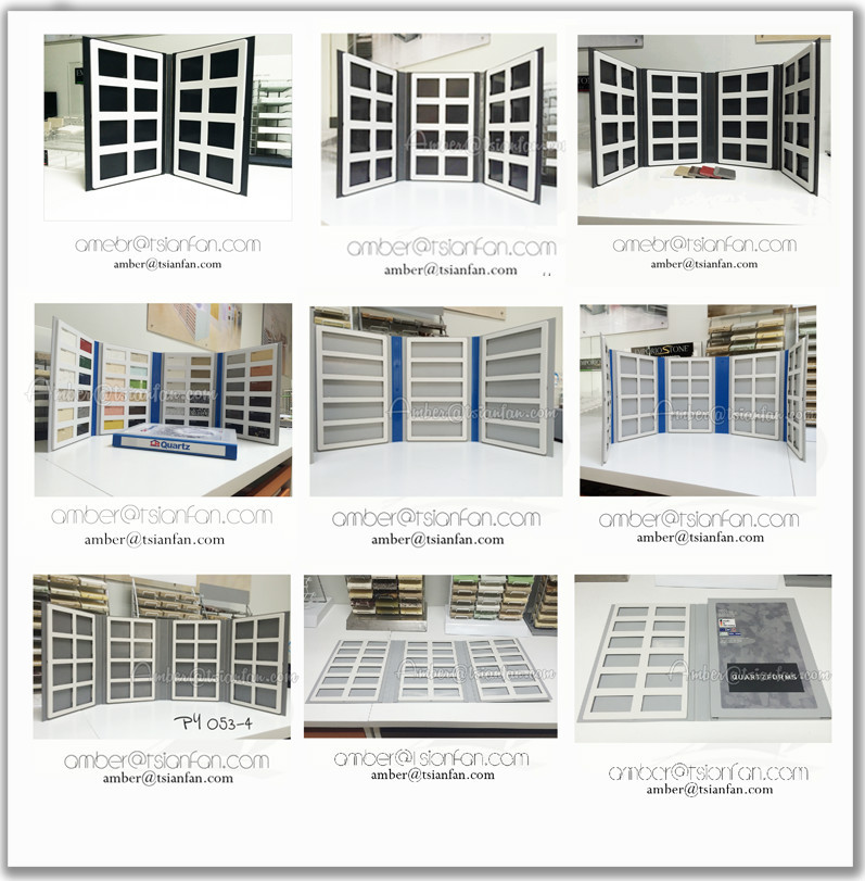 Custom Plastic Quartz and Marble Stone Tile  Sample Display Binder Folder or Swatches Sample Book