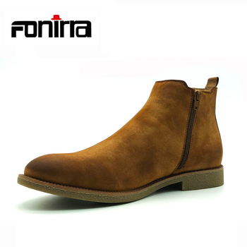 ac6265c62cd New Fashion Design Men Ankle Boots High Quality Low MOQ Chelsea Boots Men