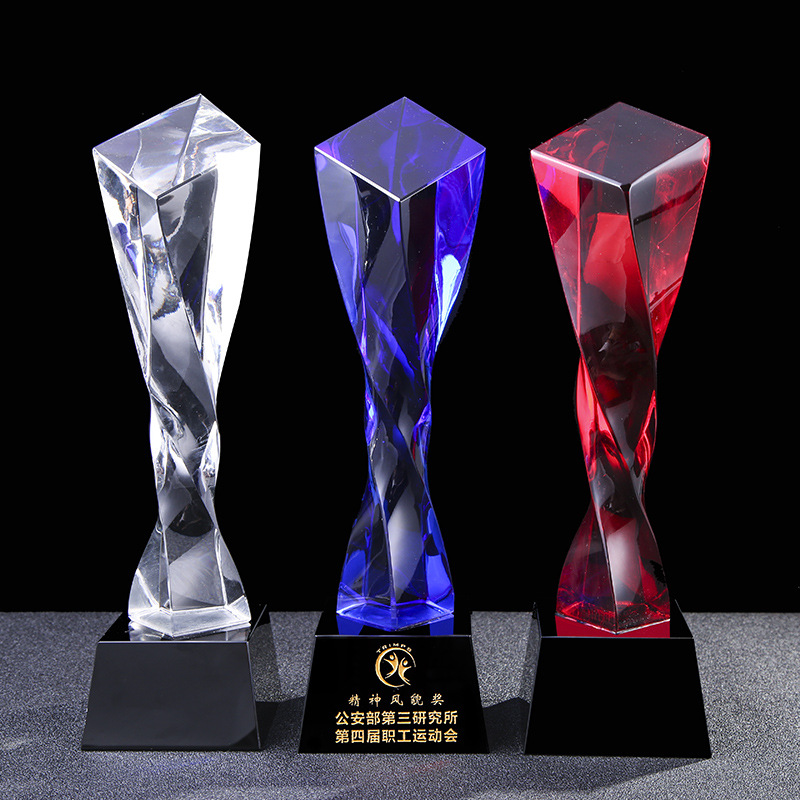 New design Champions Crystal Trophy Cup Custom Crystal Crafts Medal Awards Star Crystal Trophy For Sale