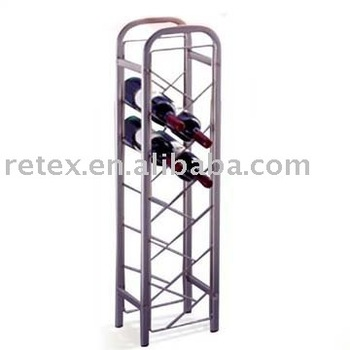 tall metal wine rack