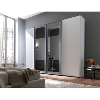 Modern Wooden Frame Mirror Glass Customized Uv Finish Bedroom Furniture  Wardrobe - Buy Modern Wooden Frame Mirror Wardrobe,Glass Customized Uv  Finish ...
