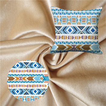 Polyester Home Upholstery Furniture Pillow Textile Fabric, Velvet fabric